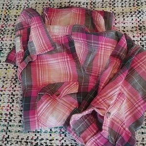 Pretty pink and gray flannel